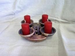 Obrázek výrobku: Adventní svícen Miska s mističkou  3