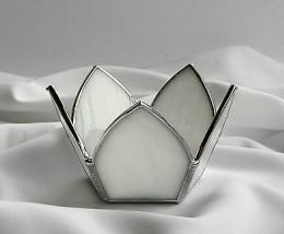 Obrázek výrobku: Svícen Lotos bílý