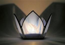 Obrázek výrobku: Svícen Lotos modrý