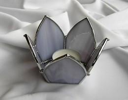 Obrázek výrobku: Svícen Lotos fialový