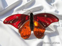 Obrázek výrobku: Motýl Bruno červený