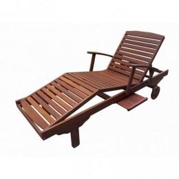 Obrázek výrobku: Dřevěné zahradní lehátko ERA
