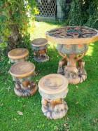 Výrobek: Souprava z teakového dřeva