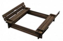 Obrázek výrobku: Dřevěné pískoviště s lavičkami