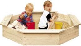 Obrázek výrobku: Dřevěné pískoviště pro děti 8-hranné FSC