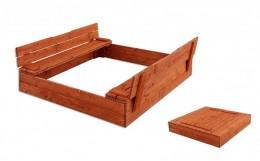 Obrázek výrobku: Dřevěné pískoviště komfort 120 x 120 cm