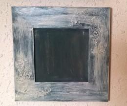 Obrázek výrobku: Vintage rámeček - smetanovo - šedý