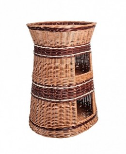 Obrázek výrobku: Proutěný pelíšek s boudou dvoupatrový