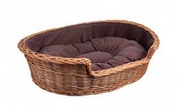 Obrázek výrobku: Proutěný pelíšek pro psa s poduškou - velký