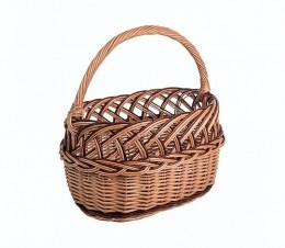 Obrázek výrobku: Proutěný koš na nákupy ozdobný