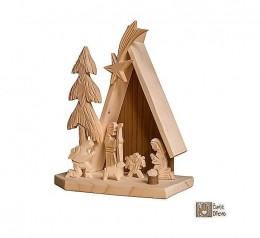 Obrázek výrobku: Betlém z lipového a smrkového dřeva