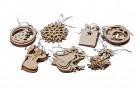 Výrobek: Dřevěné vánoční ozdoby 35 ks