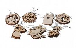 Obrázek výrobku: Dřevěné vánoční ozdoby 35 ks