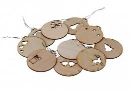 Obrázek výrobku: Dřevěné jmenovky na dárky 10 ks