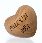 Výrobek: Srdíčko dřevěné 3D s věnováním