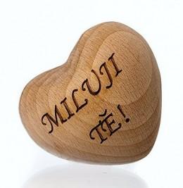 Obrázek výrobku: Srdíčko dřevěné 3D s věnováním