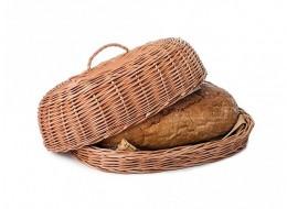 Obrázek výrobku: Proutěná ošatka na pečivo s víkem - přírodní