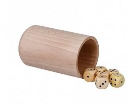 Obrázek výrobku: Hrací kostky 6 ks s kelímkem