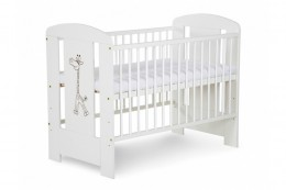 Obrázek výrobku: Dřevěná dětská postýlka žirafa bílá