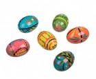 Výrobek: Velikonoční vajíčka dřevěná ručně malovaná (6 ks)