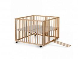 Obrázek výrobku: Dětská dřevěná ohrádka přírodní polohovací