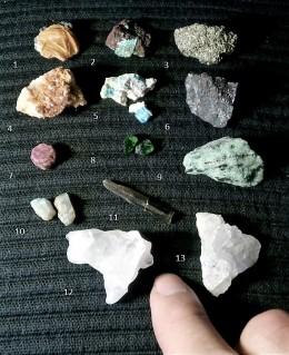 Obrázek výrobku: Konvolut-směska pár vzácných i běžných minerálů z celého světa