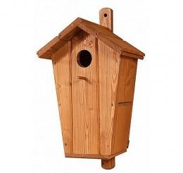 Obrázek výrobku: Dřevěná ptačí budka mořený smrk