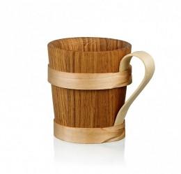 Obrázek výrobku: Dřevěný korbel - otevírající se