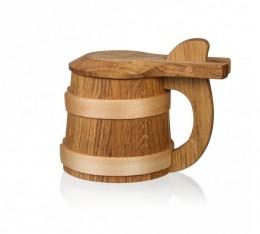 Obrázek výrobku: Dřevěný korbel s víkem Exlusive
