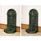 Výrobek: Nástěnná kašna - fontána z litiny - zelená