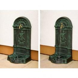 Obrázek výrobku: Nástěnná kašna - fontána z litiny - zelená