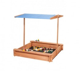 Obrázek výrobku: Dřevěné pískoviště se stříškou 120 x 120 cm