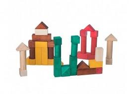 Obrázek výrobku: Dřevěné kostky barevné - 40 ks