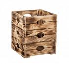 Výrobek: Opálená dřevěná bedýnka květináč 30 x 30 x 35 cm