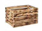 Výrobek: Opálená dřevěná bedýnka 60 x 39 x 35 cm
