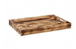 Obrázek výrobku: Opálená dřevěná bedýnka 56 x 36 x 6 cm