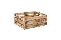 Obrázek výrobku: Opálená dřevěná bedýnka 50 x 39 x 20 cm (vhodná na ovoce)