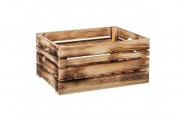 Obrázek výrobku: Opálená dřevěná bedýnka 46 x 32 x 22 cm