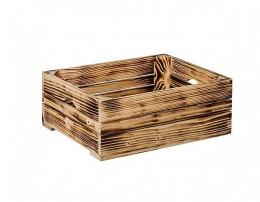 Obrázek výrobku: Opálená dřevěná bedýnka 40 x 30 x 15 cm
