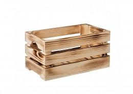 Obrázek výrobku: Opálená dřevěná bedýnka 40 x 22 x 20 cm