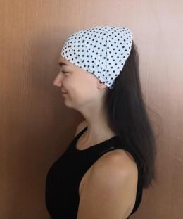 Obrázek výrobku: Látková čelenka - s puntíky - univerzální