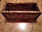 Výrobek: Opalovaný dřevěný truhlík