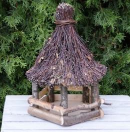 Obrázek výrobku: Krmítko pro ptáky s proutěnou střechou