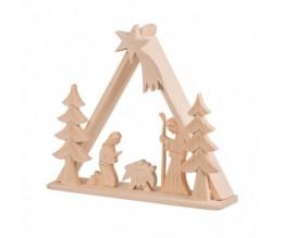Obrázek výrobku: Dřevěný betlém - trojúhelník velký
