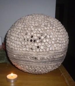 Obrázek výrobku: Keramický svícen - koule střední