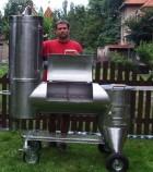 Výrobek: Zahradní gril z nerez oceli - velký s udírnou