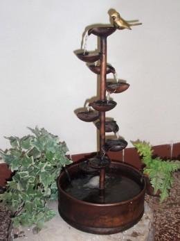 Obrázek výrobku: Pokojová fontána - ŠÁLKOVÝ ZÁVIT S PTÁČKEM
