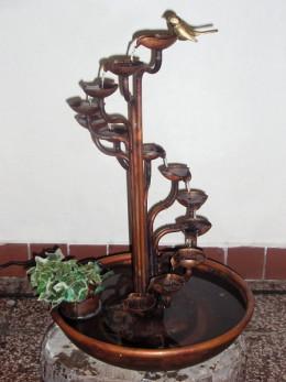 Obrázek výrobku: Pokojová fontána - SPIRÁLA S KULATOU VANOU