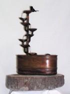 Výrobek: Pokojová fontána - ŠÁLKOVÝ ZÁVIT S OVÁLNOU VANOU