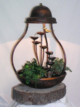 Obrázek výrobku: Pokojová fontána HŘIB S OSVĚTLENÍM